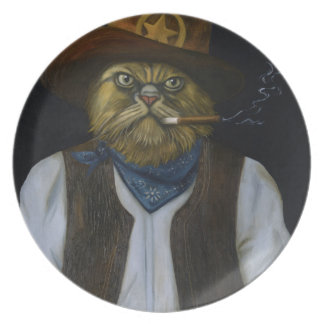 Texas Cat with an Attitude Plate