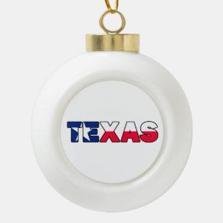 Texas Ceramic Ball Decoration