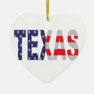 Texas Ceramic Heart Decoration