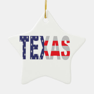 Texas Ceramic Star Decoration