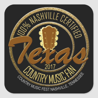 Texas Certified Country Music Fan Classic Stickers