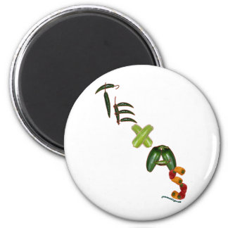 Texas Chili Peppers 6 Cm Round Magnet