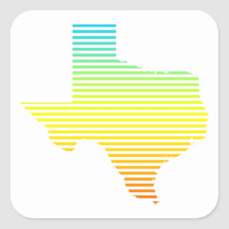 texas chill fade square sticker