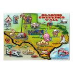 "TEXAS Christmas Map 5"" X 7"" Invitation Card"