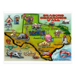 TEXAS Christmas Map Postcard