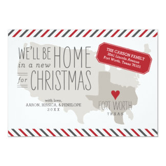 Texas Christmas Moving Announcement Holiday Card