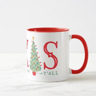 Texas Christmas Tree Coffee Mug