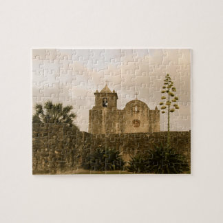 Texas Church-Vintage/Sepia Jigsaw Puzzle