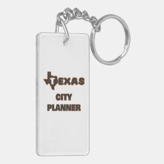 Texas City Planner Double-Sided Rectangular Acrylic Keychain