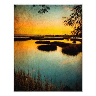 Texas City Sunset Photo Art
