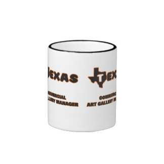 Texas Commercial Art Gallery Manager Ringer Coffee Mug