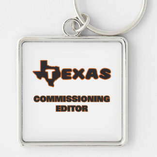 Texas Commissioning Editor Silver-Colored Square Key Ring