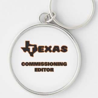 Texas Commissioning Editor Silver-Colored Round Key Ring