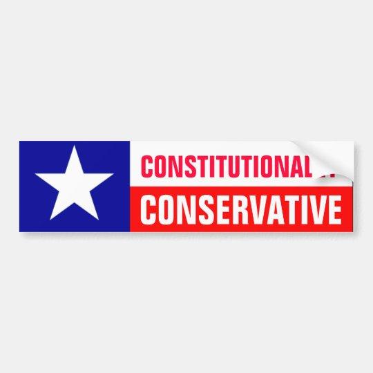 Texas Conservative Bumper Sticker