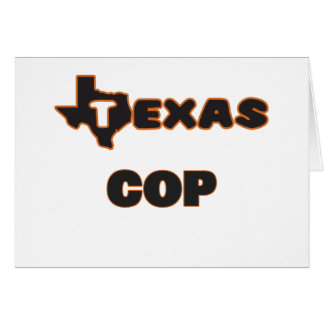 Texas Cop Note Card