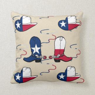 Texas Cowboy Boots And Hats Cushion