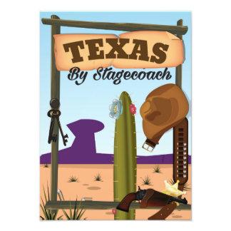 Texas cowboy vacation cartoon photo print