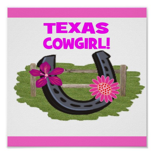 TEXAS COWGIRL POSTER