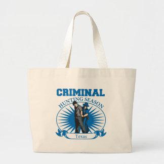 Texas Criminal Hunting Season Canvas Bags