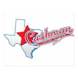 Texas Cushman Club Designs Postcard
