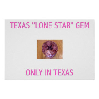 TEXAS CUT GEMS POSTER