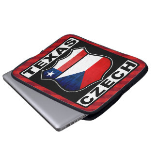 Texas Czech American Laptop Cover