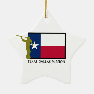 TEXAS DALLAS MISSION LDS CTR CERAMIC STAR DECORATION
