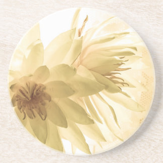 Texas Dawn Water Lilies in Sepia Coasters