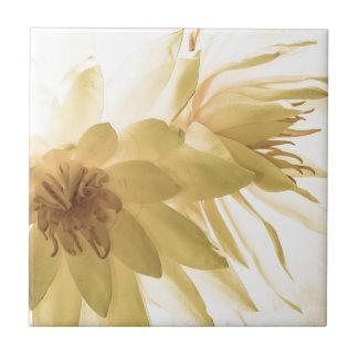 Texas Dawn Water Lilies in Sepia Tiles