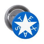 Texas De Zavala Flag Pen Button