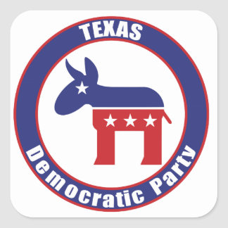 Texas Democratic Party Square Sticker