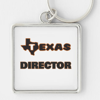 Texas Director Silver-Colored Square Key Ring