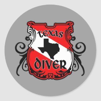 Texas Diver Stickers