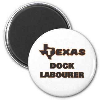 Texas Dock Labourer 6 Cm Round Magnet