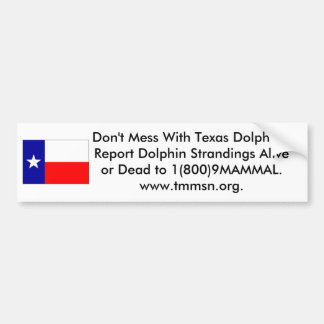 Texas Dolphins Bumper Sticker