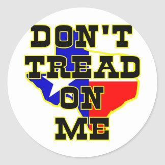 Texas, Don't Tread On Me Round Stickers