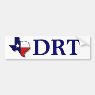 TEXAS DRT - NAVY BUMPER STICKER