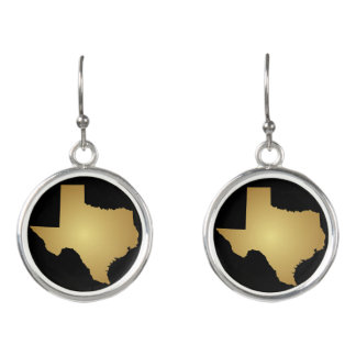 Texas Earrings - Map of Texas Jewelry