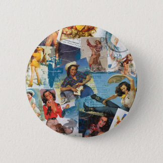 """Texas Eclectic """" Cowgirl Collection No. 2 6 Cm Round Badge"""
