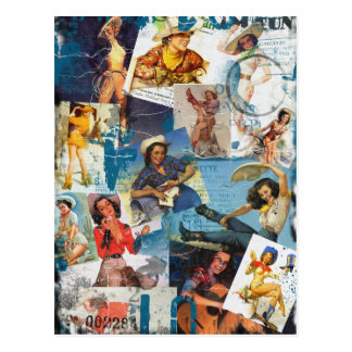 "Texas Eclectic "" Cowgirl Collection No. 2 Postcard"