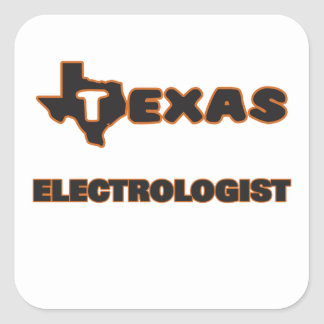 Texas Electrologist Square Sticker