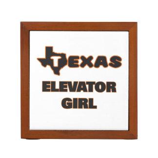 Texas Elevator Girl Pencil/Pen Holder