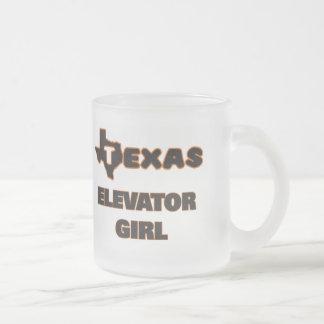 Texas Elevator Girl Frosted Glass Mug