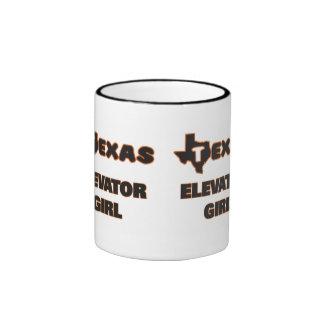 Texas Elevator Girl Ringer Mug