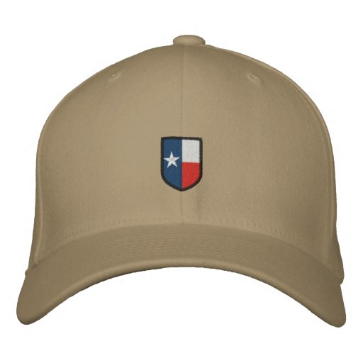 Texas Embroidered Coat of Arms Hat Embroidered Hats