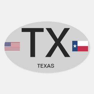 Texas* Euro-style Bumper Sticker