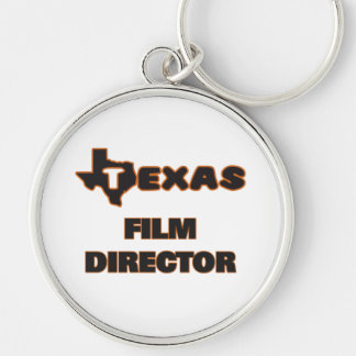 Texas Film Director Silver-Colored Round Key Ring
