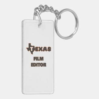 Texas Film Editor Double-Sided Rectangular Acrylic Key Ring