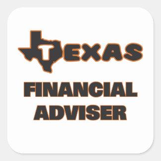 Texas Financial Adviser Square Sticker