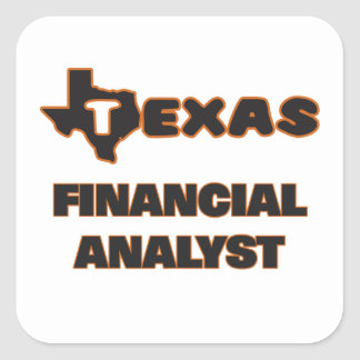 Texas Financial Analyst Square Sticker